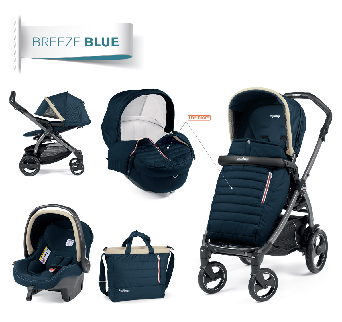 modular system breeze blue collection peg perego