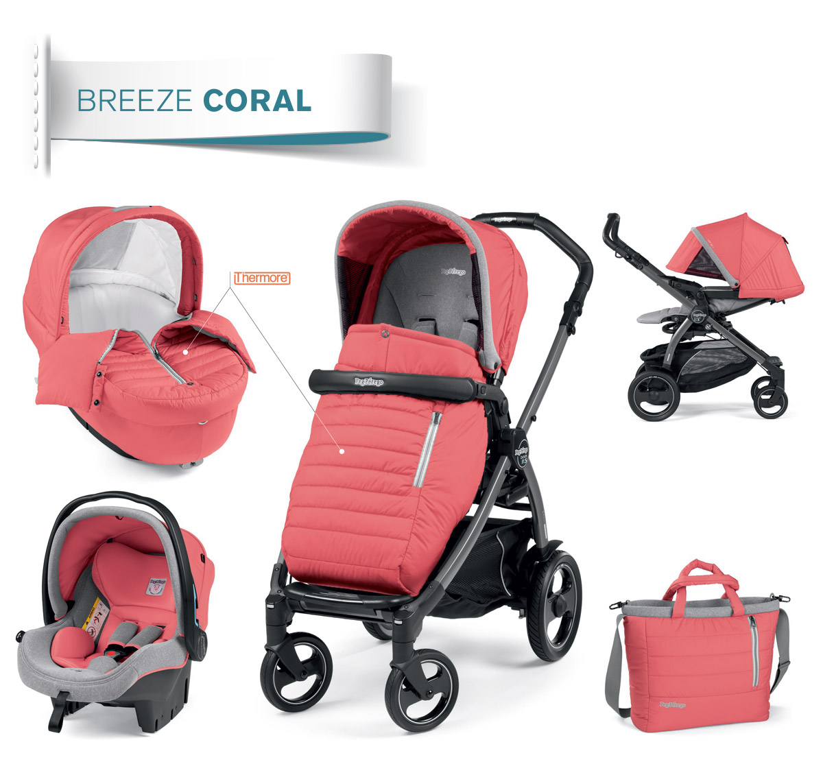 modular system coral collection peg perego