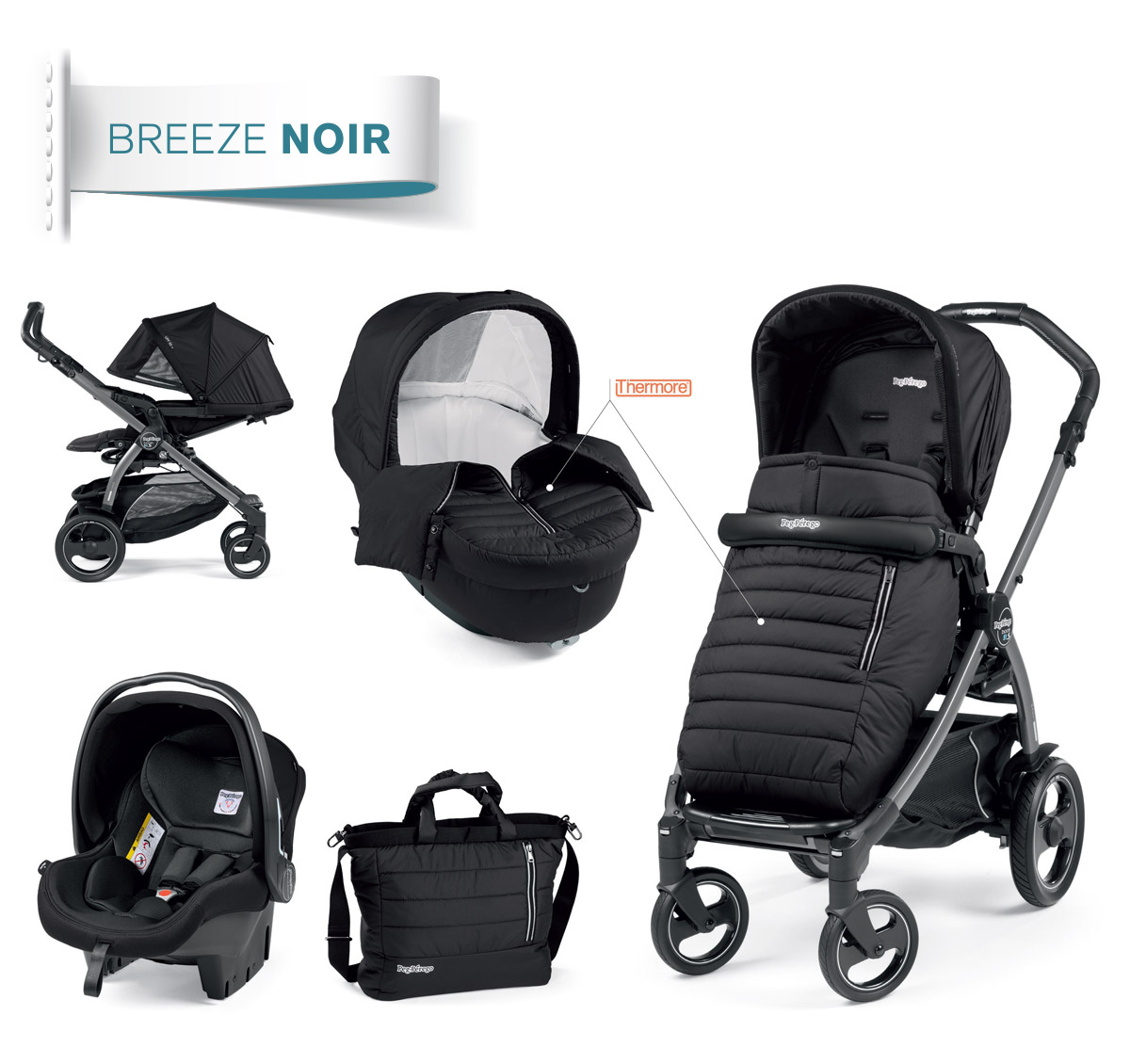 modular system noir collection peg perego