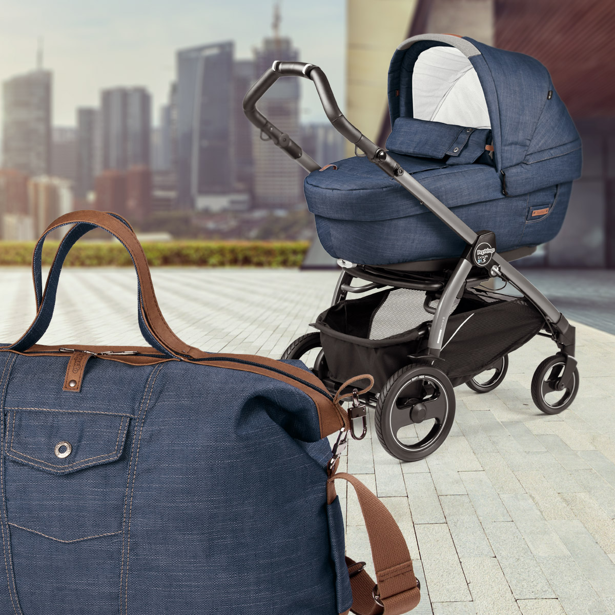 modular systems peg perego urban denim