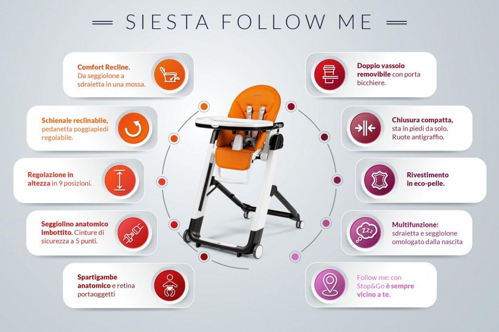 siesta follow me seggiolino peg perego