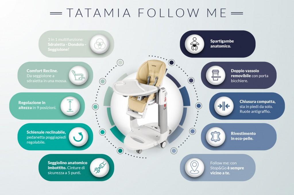 tatamia follow me seggiolone peg perego